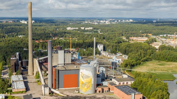 Fortum power plants and district heating networks